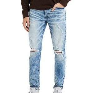 American eagle distressed acid wash jeans